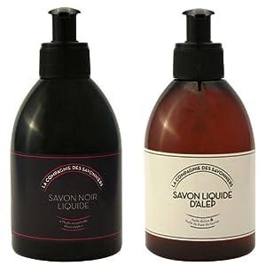 Lot de savons liquide Noir 300 mL et d'Alep 300 mL
