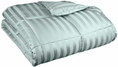 Grand Down All Season Wide Stripes Down Alternative Comforter, Twin/Twin X-Large, Jade front-629677