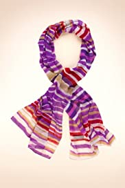 Per Una Striped Lightweight Scarf [T01-0513P-S]