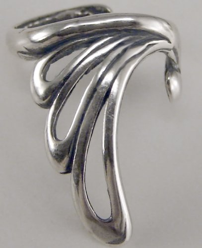 Sterling Silver Open Loop Ear Cuff