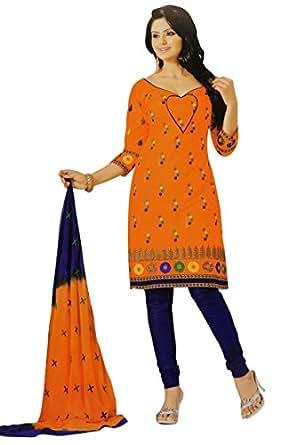 Amazon.com: Pakistani Salwar Kameez Cotton Straight Orange