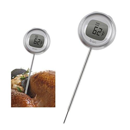CKB Ltd® DIGITAL COOKING PROBE Thermometer - Thermomètres pour cuisson au four Numérique Sonde LCD sans fil de cuisine Outil d'aide - Surveillez vos viandes Température - Idéal pour les dîners de Noël dimanche Rôtis, barbecue, griller, Four Viandes - Facile à utiliser