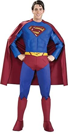 Rubie's Costume Supreme Edition Muscle Chest Superman, Blue/Red, Medium Costume