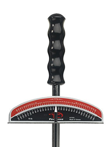 Tooluxe 03703L 3/8-inch and ½-inch Beam Style Torque Wrench, 0-150 Foot Pound   Hardened Steel
