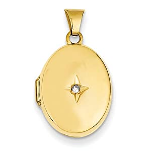 IceCarats Designer Jewelry 14K Diamond Locket