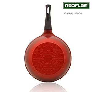 "Neoflam Ecolon Ceramic Coating Wok w/Lid 11.8""/30cm"