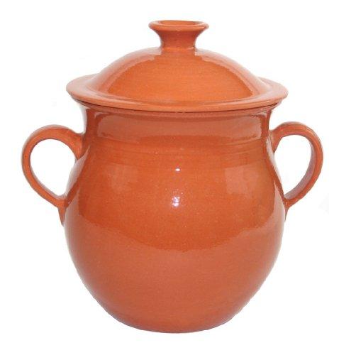 Le Souk Ceramique Csp-Nat Cookable Stew Pot, Natural/Clear Glaze