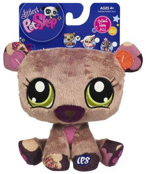 Picture of Hasbro Littlest Pet Shop 6 Inch Plush Pet Figure Bear (B00376S3YO) (Hasbro Action Figures)