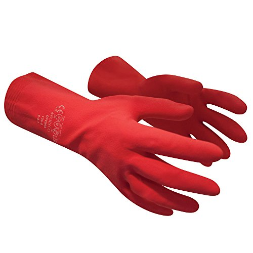 polyco-optima-latex-x-large-limpieza-glove-rojo