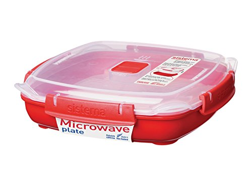 sistema-microwave-medium-plate-with-removable-steaming-tray-880-ml-red-clear