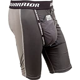 Warrior Adult Nutt Hutt 2 Compression Shorts with Cup (XX-Large, Gray)