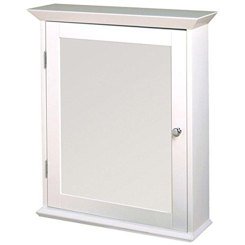 Zenith ww2026 2 white classic fixed shelves mirrored door medicine wall cabinet bathroom fixtures - Hickory medicine cabinet with mirror ...