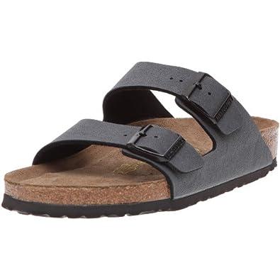 Birkenstock Unisex-Adult Arizona Sandals Basalt Nubuk 2.5 UK