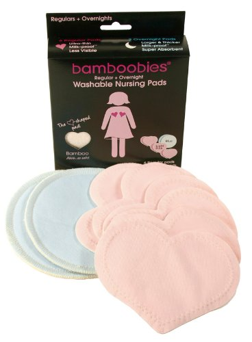Bamboobies Super-Soft Washable Nursing Pads - All Pale Pink