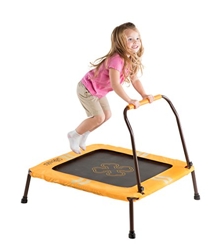 The Shrunks Kids Trampoline With Handle Bar Single Frame