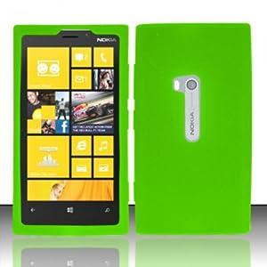 Amazon.com: For Nokia Lumia 920 (AT&T) Silicon Skin Case - Neon Green
