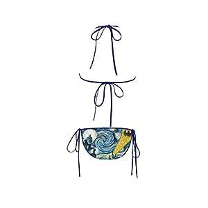 Batman Invades Van Gogh's Starry Night Custom Bikini Swimsuit Swimwear Bathing Suit for Women