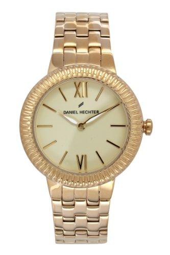 Daniel Hechter-DHD - 1EM/007 Women's Watch Analogue Quartz Golden Dial Gold Plated Steel Bracelet
