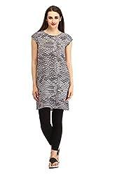 Cottinfab Women Viscose Black Dress (X-Large)
