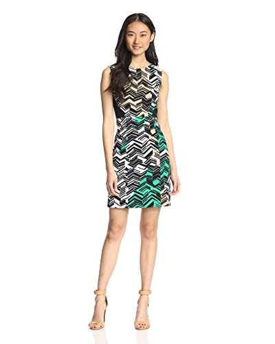 4.collective Women's Linear Print Sleeveless Dress