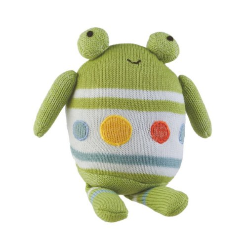 "Stuffed Frog Rattle Toy - 6"" X 3"" X 9"" - 1"