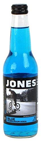 Jones Soda Bubblegum Cane Sugar Soda, Blue (Bubblegum Jones Soda compare prices)