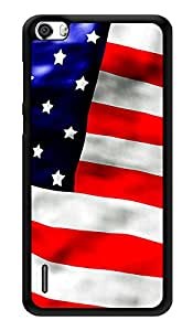 """Humor Gang Usa Flag Printed Designer Mobile Back Cover For """"Huawei Honor 6"""" (3D, Glossy, Premium Quality Snap On Case)"""