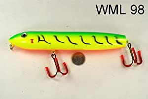 Wooden 8 Topwater Walk-the-Dog Stickbait Muskie Fishing Lure