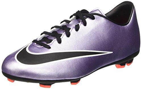 Nike Jr Mercurial Victory V Fg, Scarpe da Calcio Allenamento Unisex Bambini, Multicolore (Urbn Lilac/Blk-Brght Mng-White), 34 EU