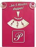Parkscheibe pink mit Sauger ... bin 5 Minuten shoppen ~~~~~ schneller Versand innerhalb 24 Stunden ~~~~~