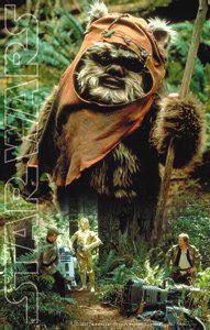 Star Wars Movie Series Sticker - Ewok