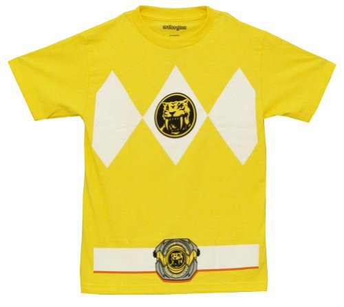 The Power Rangers Yellow Rangers Costume Adult T-shirt Tee
