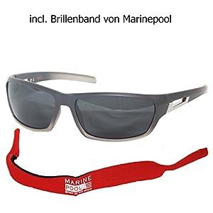 Outdoor Sonnenbrille polarisiert mit Brillenband von Marinepool