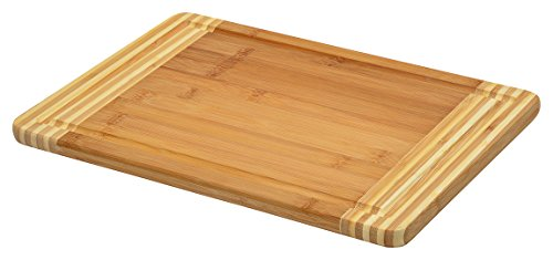 Blue Donuts Premium Bamboo cutting board Elegantly designed, Strong, Durable, No knife dull and Eco friendly - Measures 13.7