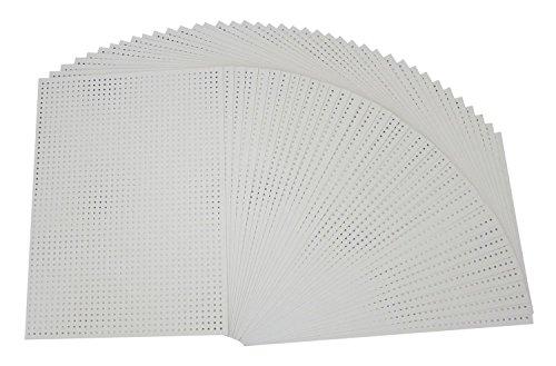 Folia 2322 - Stickkarton, unbedruckt, 300 g/m², 17.5 x 24.5 cm, 40 Blatt, weiß hergestellt von Folia