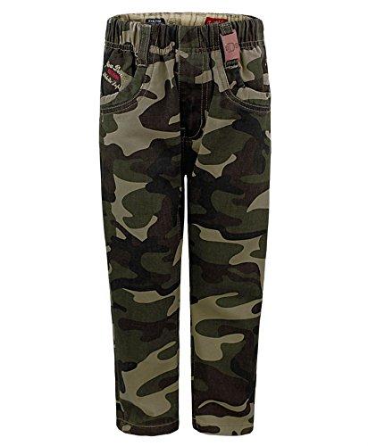 Kids Army Trousers In Camo Khaki 7-8 Years