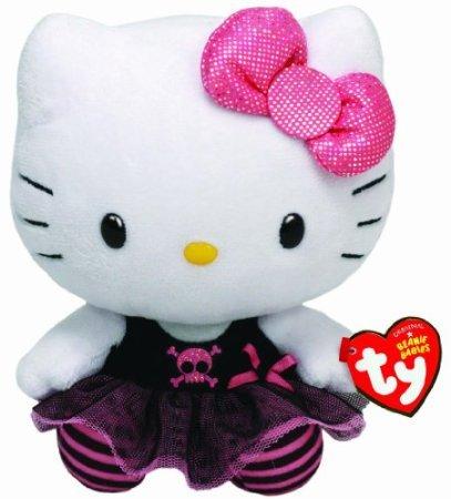 "Ty Beanie Buddies Hello Kitty Plush, Punk Medium  8"" - 1"