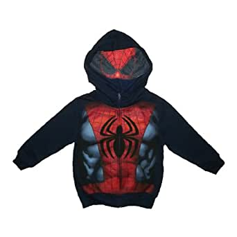 Marvel Comics Spider-Man Character Boys Zip-Up Mesh Mask Hoodie 7 Dark Blue