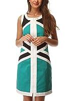 ALMATRICHI Vestido Saratoga (Verde)