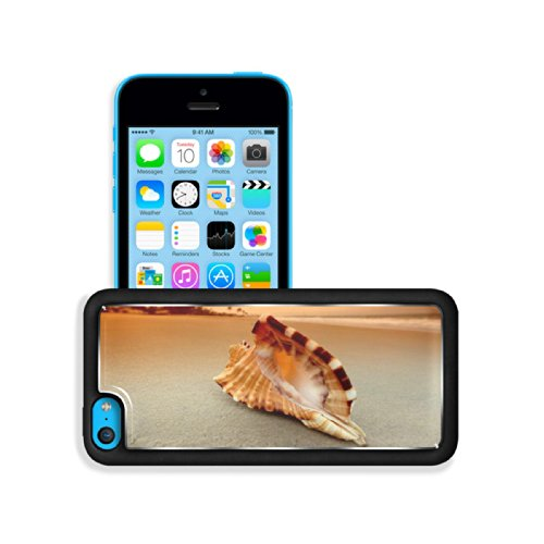 Shell Conch Island Beach Sunset Apple Iphone 5C Snap Cover Premium Aluminium Design Back Plate Case Customized Made To Order Support Ready 5 Inch (125Mm) X 2 3/8 Inch (62Mm) X 3/8 Inch (12Mm) Luxlady Iphone 5C Professional Cases Touch Accessories Graphic