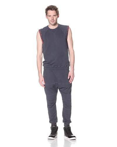 Pierre Balmain Men's Garment-Dyed Vest with Laces