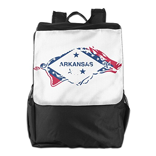AIJFW Outdoor Travel Bag - Arkansas Flag Logo Unisex Backpack Daypack Bookbags Rucksack College Bag (Arkansas Basketball Tickets compare prices)