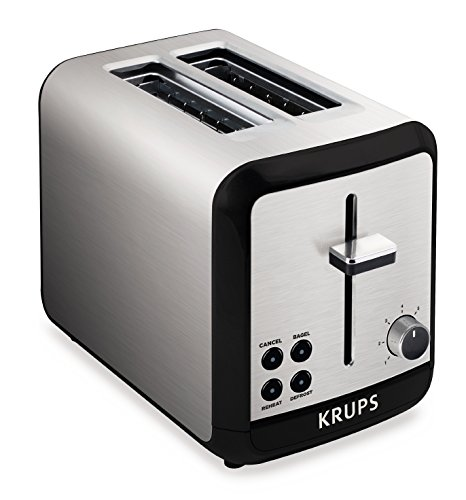 KRUPS KH3110 SAVOY  Brushed Stainless Steel Toaster with Bagel Function and Wide Slots, 2-Slice, Silver (Frigidaire Toaster compare prices)
