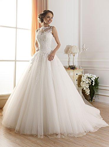 TBB Illusion Lace Ball Gown casamento Elegant Beaded Long Wedding dresses (14)