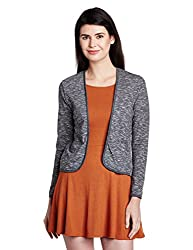 People Women's Cotton Blouson Jacket (P20401116067383_Dark Grey_X-Small)