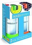 SodaStream 2 x 0,5L PET-Flaschen, grün und orange
