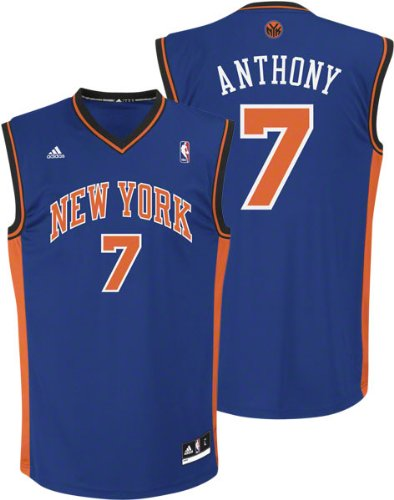Adidas New York Knicks Carmelo Anthony Revolution 30 Replica Road Jersey