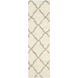 Safavieh Dallas Shag Collection SGD257B Ivory and Beige Runner, 2 feet 3 inches by 8 feet (2\'3\