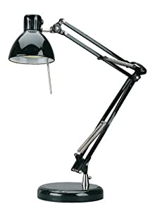 Lite Source LS-3202BLK Flex Halogen Desk Lamp, Black