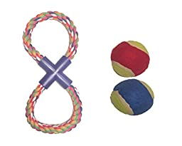 Dog Toys - Pet Toy Rope and Tennis ball bundle